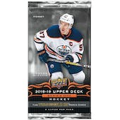 2018/19 Upper Deck Series 1 Hockey Hobby Pack