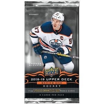 2018/19 Upper Deck Series 1 Hockey Hobby Pack