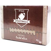 2020 Hit Parade Football Limited Edition - Series 10 -  10 Box Hobby Case /100 Kyler-Montana-Barkley