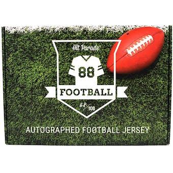 2019 Hit Parade Autographed Football Jersey Hobby Box - Series 4 - John Elway, Nick Chubb, & Joe Namath!!!!