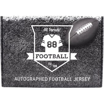 2019 Hit Parade Autographed 1st ROUND EDITION Football Jersey Hobby Box - Series 1 -P. Mahomes & Zeke Elliott!
