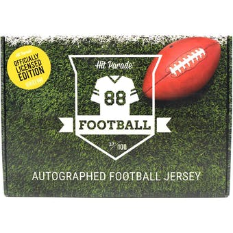 2020 Hit Parade Autographed OFFICIALLY LICENSED Football Jersey Hobby Box - Series 4 - PATRICK MAHOMES!!!