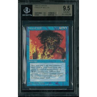 Magic the Gathering Alliances Force of Will BGS 9.5 (9.5, 9, 9.5, 9.5)