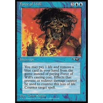 Magic the Gathering Alliances Single Force of Will - SLIGHT PLAY (SP)