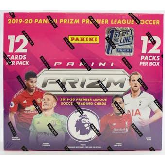 2019/20 Panini Prizm Premier League 1st Off The Line Soccer Hobby Box