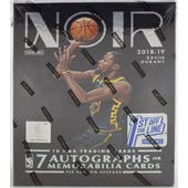 2018/19 Panini Noir Basketball 1st Off The Line Hobby Box