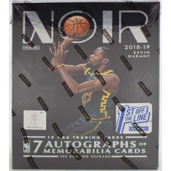2018/19 Panini Noir Basketball 1st Off The Line Hobby Box