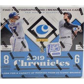 2019 Panini Chronicles Baseball 1st Off the Line Hobby Box