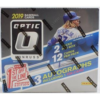 2019 Panini Donruss Optic Premium Edition Baseball 1st Off The Line Hobby Box