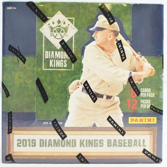 2019 Panini Diamond Kings 1st Off The Line Baseball Hobby Box