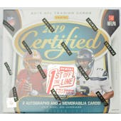 2019 Panini Certified 1st Off the Line Premium Edition Football Hobby Box