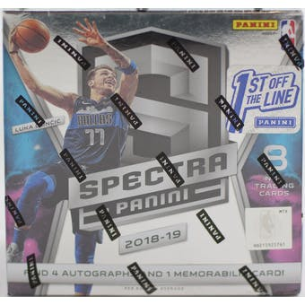 2018/19 Panini Spectra 1st Off The Line Basketball Hobby Box