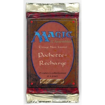 Magic the Gathering 3rd Edition (Revised) Booster Pack - FRENCH - WHITE BORDERED