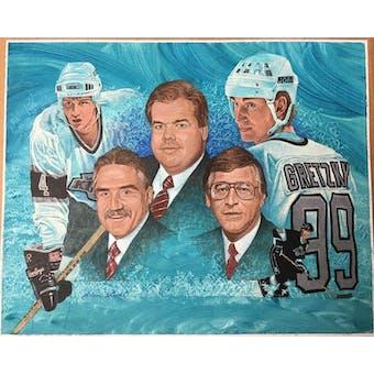 Wayne Gretzky Great Ones Los Angeles Kings Alan Studt Upper Deck 18 x 24 UnFramed Original Art