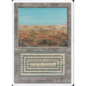 Magic the Gathering 3rd Ed (Revised) FWB GERMAN Single Scrubland - MODERATE PLAY (MP) Sick Deal Pricing