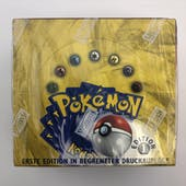 Pokemon Base Set 1 German 1st Edition Booster Box (A) WOTC