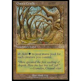 Magic the Gathering Urza's Saga Single Gaea's Cradle - SLIGHT PLAY (SP)