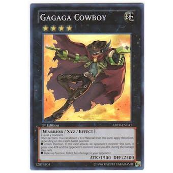 Yu-Gi-Oh Abyss Rising 1st Ed. Single Gagaga Cowboy Super Rare - NEAR MINT (NM)