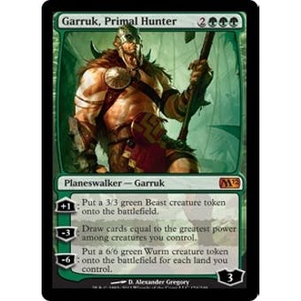Magic the Gathering 2012 Single Garruk, Primal Hunter Foil - NM