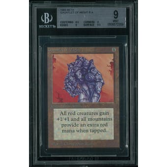 Magic the Gathering Beta Gauntlet of Might BGS 9 (8.5, 9, 9, 8.5)