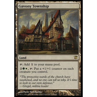 Magic the Gathering Innistrad Single Gavony Township FOIL - SLIGHT PLAY (SP)