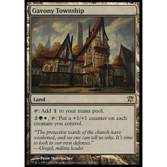 Magic the Gathering Innistrad Single Gavony Township FOIL - SLIGHT PLAY (SP)