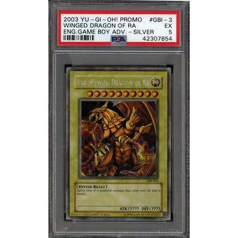 Yu-Gi-Oh Game Boy Advance GLD The Winged Dragon of Ra GBI-003 PSA 5 SECRET RARE SILVER
