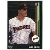 1989 Upper Deck Greg Booker San Diego Padres #641 Black Border Proof