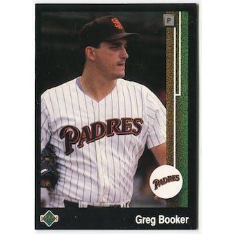 1989 Upper Deck Greg Booker San Diego Padres #641 Black Border Proof