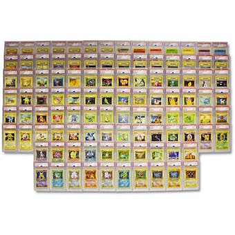 Pokemon Base Set 1st Edition Shadowless Complete 104 of 102 PSA 10 GEM MINT Set