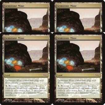Magic the Gathering Judge Foil Promo PLAYSET Gemstone Mine - 4x NEAR MINT/SLIGHT PLAY (NM/SP)
