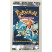Pokemon Base Set 1 1st Edition Booster Pack - GERMAN Blastoise Art UNWEIGHED