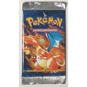 Pokemon Base Set 1 1st Edition Booster Pack - GERMAN Charizard Art UNWEIGHED