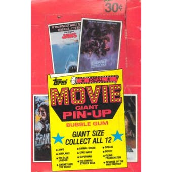 Movie Giant Pin-Up Trading Cards Wax Box (1981 Topps)