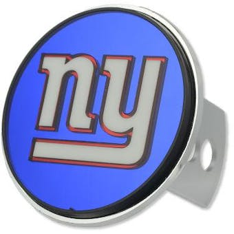 """New York Giants Rico Industries 4 """" Laser Trailer Hitch Cover"""