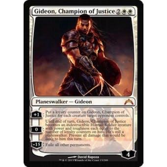 Magic the Gathering Gatecrash Single Gideon, Champion of Justice Foil