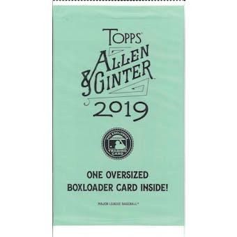 2019 Topps Allen & Ginter Baseball Oversized Boxloader Topper Pack