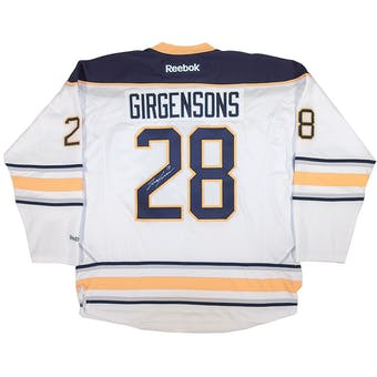 Zemgus Girgensons Autographed Buffalo Sabres XL White Hockey Jersey