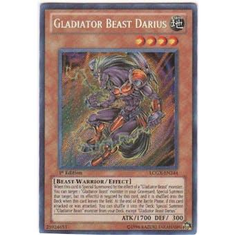 Yu-Gi-Oh Legendary Collection 2 1st Ed. Single Gladiator Beast Darius Secret Rare