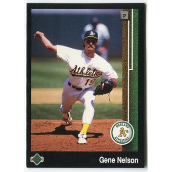 1989 Upper Deck Gene Nelson Oakland A's #643 Black Border Proof