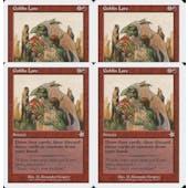 Magic the Gathering Starter 1999 PLAYSET 4x Goblin Lore - NEAR MINT (NM)