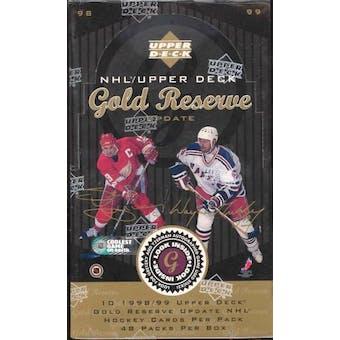 1998/99 Upper Deck Gold Reserve Hockey Update Box