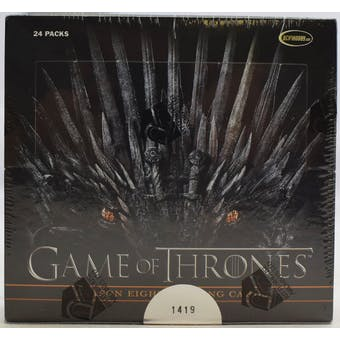Game Of Thrones Season Eight 8 Trading Cards Box (Rittenhouse 2020)
