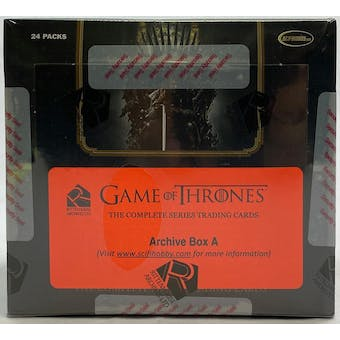 Game of Thrones The Complete Series Trading Cards Archive Box (Rittenhouse 2020)