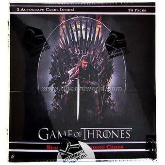 Game of Thrones Season One Trading Cards Box (Rittenhouse 2012)