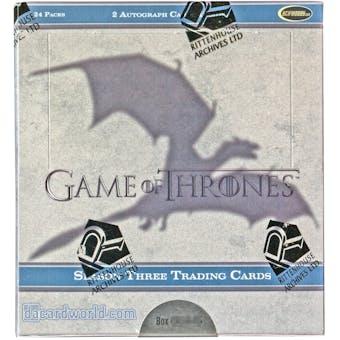 Game of Thrones Season Three Trading Cards Box (Rittenhouse 2014)