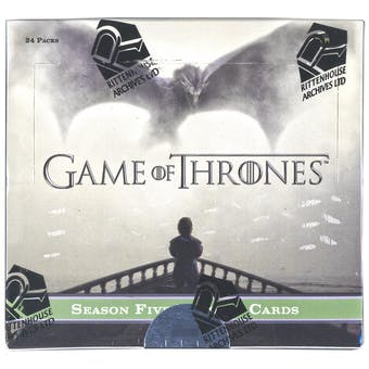 Game Of Thrones Season Five Trading Cards Box (Rittenhouse 2016)