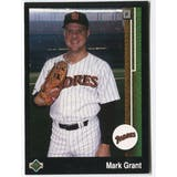 1989 Upper Deck Mark Grant San Diego Padres Blank Back Black Border Proof