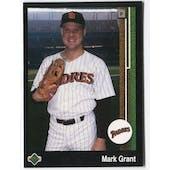1989 Upper Deck Mark Grant San Diego Padres Blank Back Black Border Proof