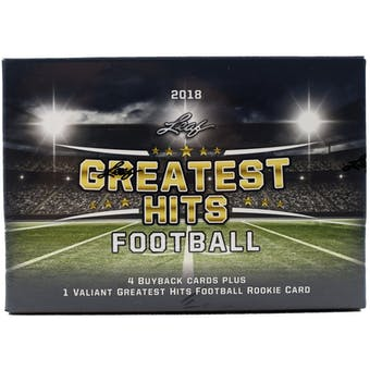 2018 Leaf Greatest Hits Football Hobby Box